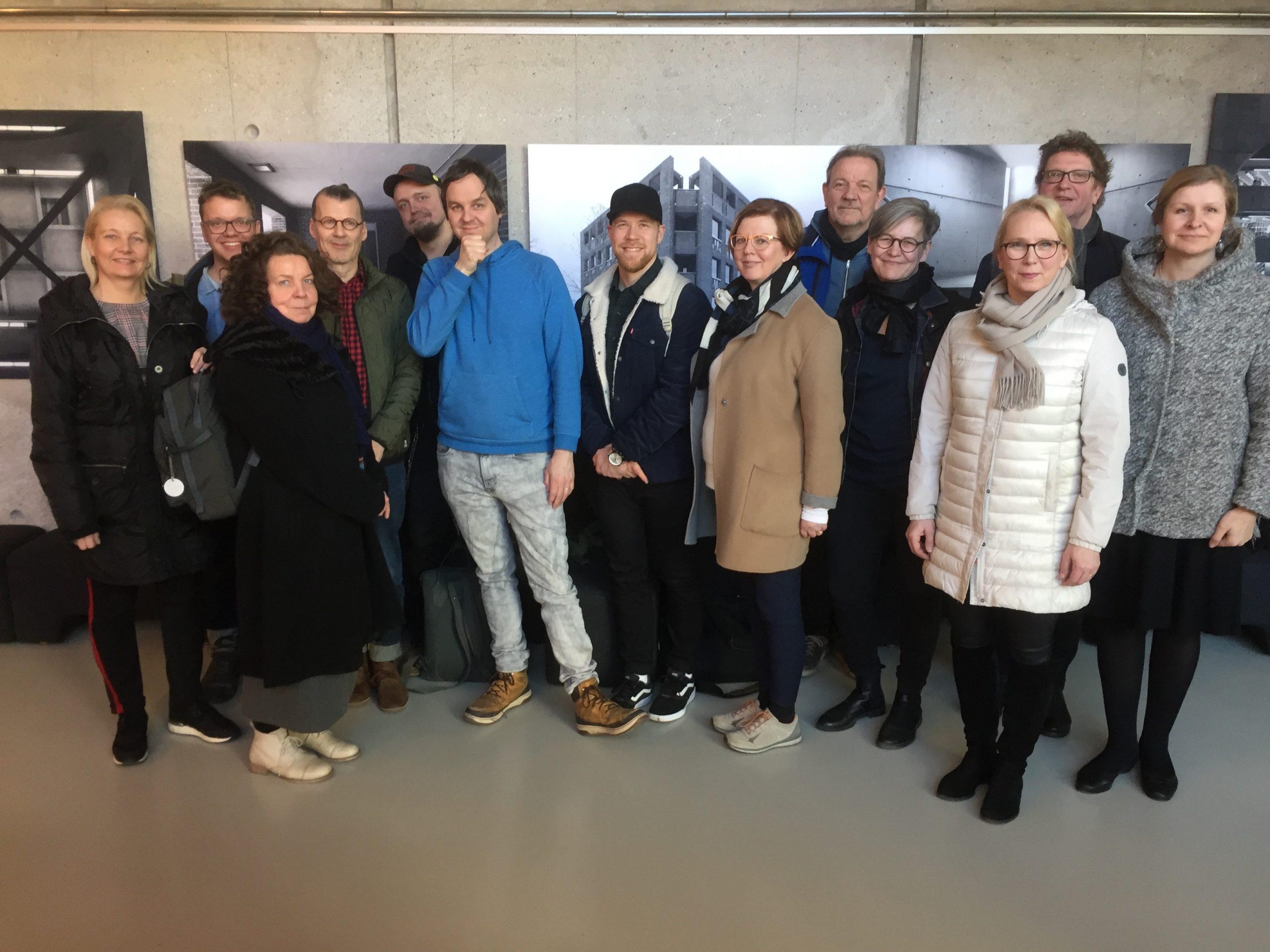Restartin ohjausryhmä ryhmäkuvassa Tallinnassa 27.3.2019